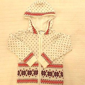 Gymboree Girls Fair Isle Snowflake Hoodie Sweater